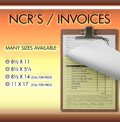 NCR's / Invoice