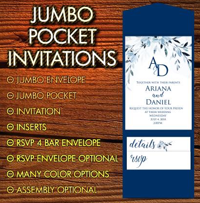 Jumbo Pocket Invitations