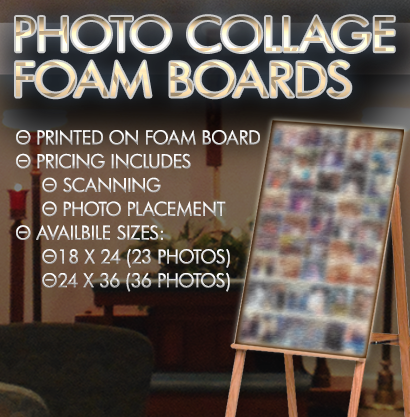Photo Collage Foam Board